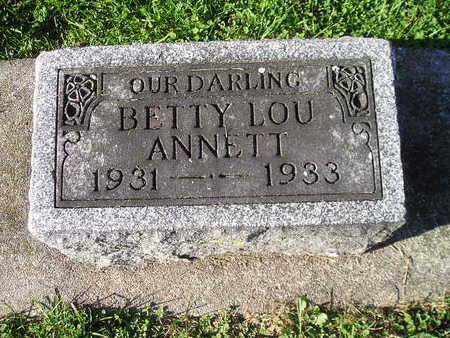 ANNETT, BETTY LOU - Bremer County, Iowa | BETTY LOU ANNETT