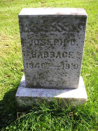 BABBAGE, JOSEPH D - Bremer County, Iowa | JOSEPH D BABBAGE