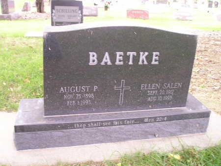 BAETKE, AUGUST P - Bremer County, Iowa | AUGUST P BAETKE
