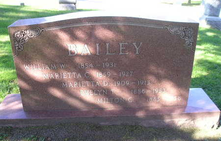 BAILEY, MARIETTA D - Bremer County, Iowa | MARIETTA D BAILEY