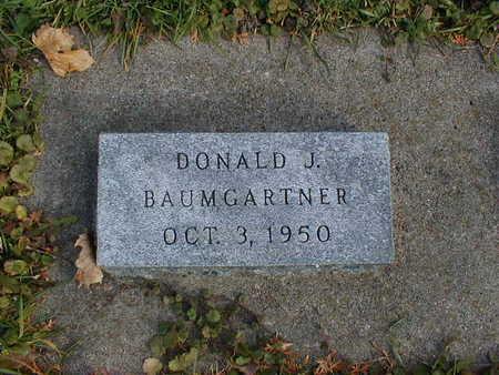 BAUMGARTNER, DONALD J - Bremer County, Iowa | DONALD J BAUMGARTNER