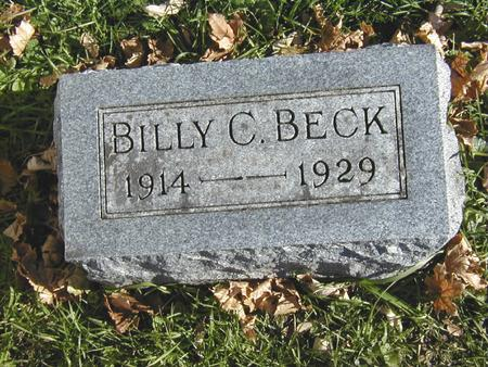 BECK, BILLY C. - Bremer County, Iowa | BILLY C. BECK