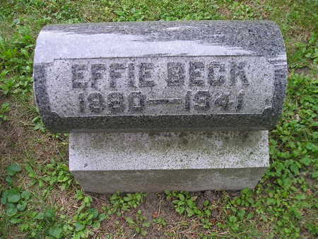 BECK, EFFIE - Bremer County, Iowa | EFFIE BECK