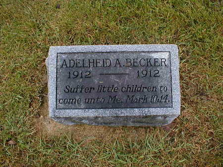 BECKER, ADELHEID A - Bremer County, Iowa | ADELHEID A BECKER