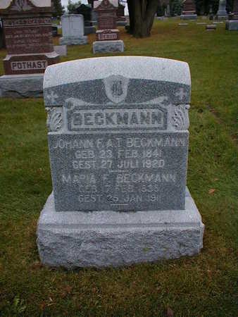 BECKMANN, JOHANN F A T - Bremer County, Iowa | JOHANN F A T BECKMANN
