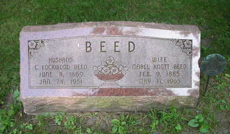 KNOTT BEED, MABEL - Bremer County, Iowa | MABEL KNOTT BEED