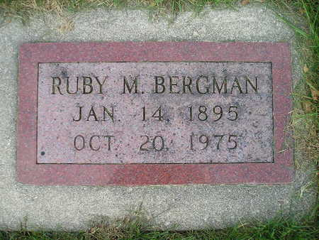 BERGMAN, RUBY M - Bremer County, Iowa | RUBY M BERGMAN