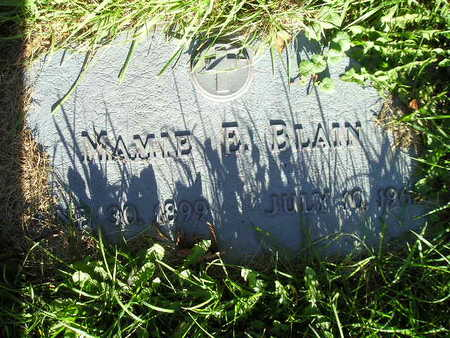 BLAIN, MAMIE E - Bremer County, Iowa | MAMIE E BLAIN