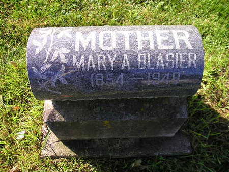 BLASIER, MARY A - Bremer County, Iowa | MARY A BLASIER