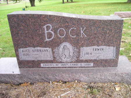BIERMANN BOCK, ALICE - Bremer County, Iowa | ALICE BIERMANN BOCK