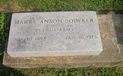 BODEKER, HARRY ANSON - Bremer County, Iowa | HARRY ANSON BODEKER
