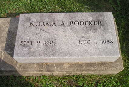 BODEKER, NORMA A. - Bremer County, Iowa | NORMA A. BODEKER