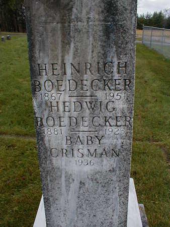 BOEDECKER, HEINRICH - Bremer County, Iowa | HEINRICH BOEDECKER
