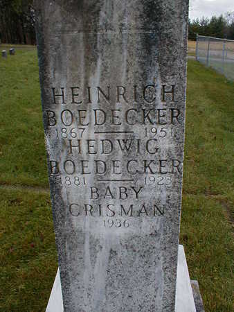 BOEDECKER, HEDWIG - Bremer County, Iowa | HEDWIG BOEDECKER