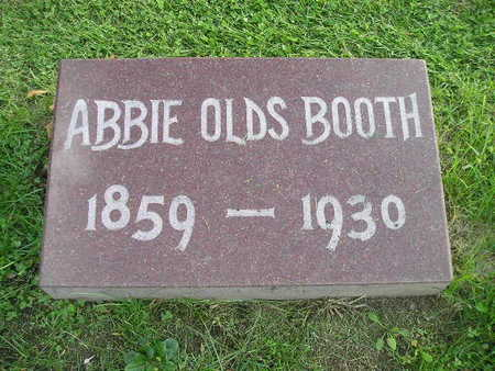 OLDS BOOTH, ABBIE - Bremer County, Iowa   ABBIE OLDS BOOTH