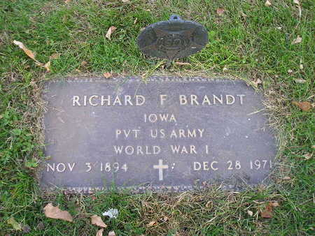 BRANDT, RICHARD F - Bremer County, Iowa | RICHARD F BRANDT