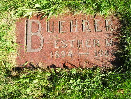 BUEHRER, ESTHER M - Bremer County, Iowa | ESTHER M BUEHRER