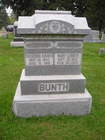 BUNTH, MARY J - Bremer County, Iowa | MARY J BUNTH