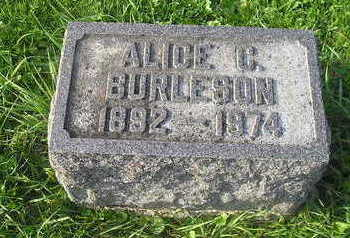 BURLESON, ALICE - Bremer County, Iowa | ALICE BURLESON