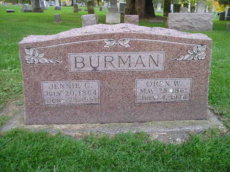 BURMAN, JENNIE C - Bremer County, Iowa | JENNIE C BURMAN