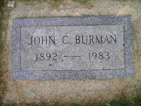 BURMAN, JOHN C - Bremer County, Iowa | JOHN C BURMAN