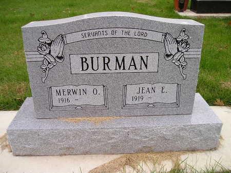 BURMAN, MERWIN O - Bremer County, Iowa | MERWIN O BURMAN
