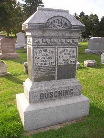 BUSCHING, MATILDA - Bremer County, Iowa | MATILDA BUSCHING