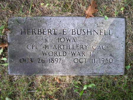 BUSHNELL, HERBERT E - Bremer County, Iowa | HERBERT E BUSHNELL