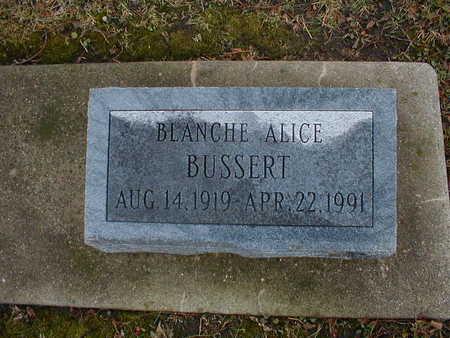 BUSSERT, BLANCHE ALICE - Bremer County, Iowa | BLANCHE ALICE BUSSERT