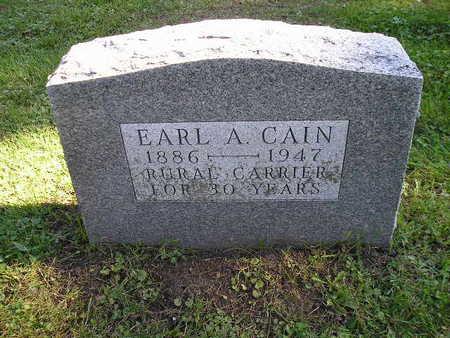 CAIN, EARL A - Bremer County, Iowa | EARL A CAIN