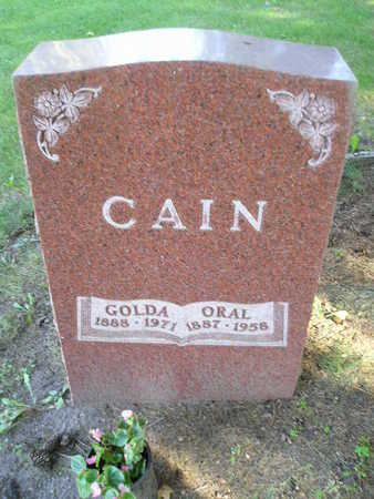 CAIN, GOLDA - Bremer County, Iowa | GOLDA CAIN