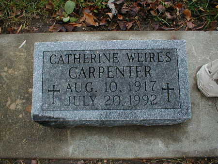 WEIRES CARPENTER, CATHERINE - Bremer County, Iowa | CATHERINE WEIRES CARPENTER