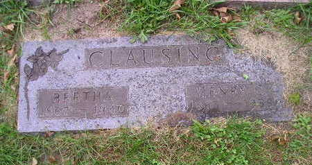 CLAUSING, BERTHA - Bremer County, Iowa | BERTHA CLAUSING