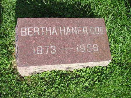 HANER COE, BERTHA - Bremer County, Iowa | BERTHA HANER COE