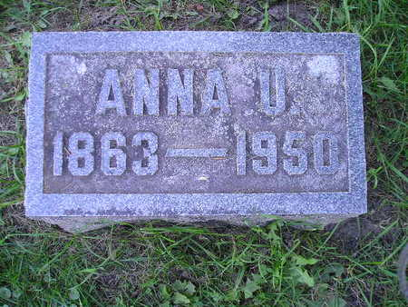 COLBURN, ANNA U - Bremer County, Iowa | ANNA U COLBURN
