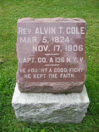COLE, ALVIN T - Bremer County, Iowa | ALVIN T COLE