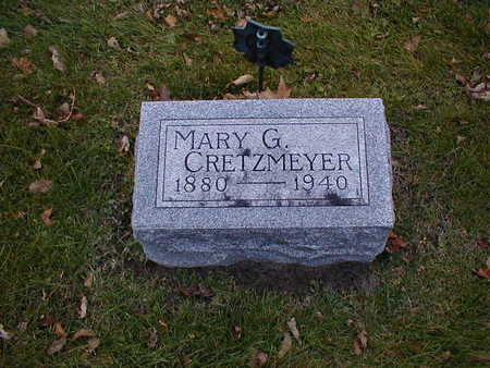 CRETZMEYER, MARY G - Bremer County, Iowa | MARY G CRETZMEYER