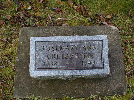 CRETZMEYER, ROSEMARY ANN - Bremer County, Iowa | ROSEMARY ANN CRETZMEYER