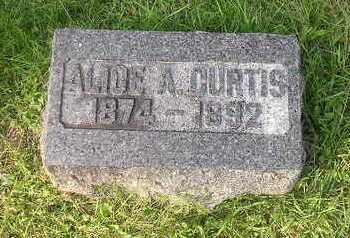 CURTIS, ALICE - Bremer County, Iowa | ALICE CURTIS