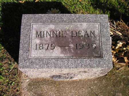 DEAN, MINNIE - Bremer County, Iowa | MINNIE DEAN