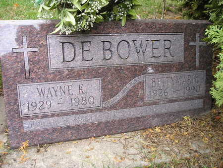 DEBOWER, BETTY MARIE - Bremer County, Iowa | BETTY MARIE DEBOWER
