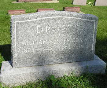 DROSTE, FRIEDA A - Bremer County, Iowa | FRIEDA A DROSTE