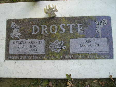 DROSTE, JOHN F - Bremer County, Iowa | JOHN F DROSTE