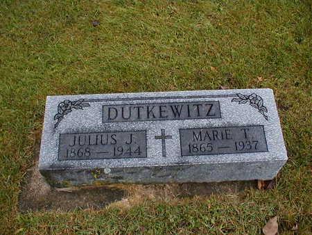 DUTKEWITZ, JULIUS J - Bremer County, Iowa | JULIUS J DUTKEWITZ