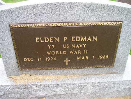 EDMAN, ELDEN P - Bremer County, Iowa | ELDEN P EDMAN