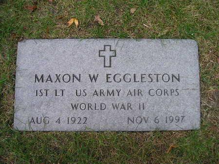 EGGLESTON, MAXON W - Bremer County, Iowa   MAXON W EGGLESTON