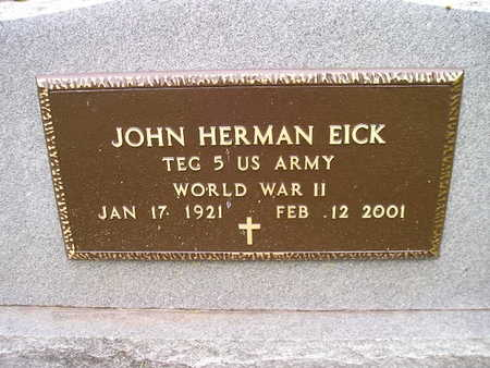 EICK, JOHN HERMAN - Bremer County, Iowa | JOHN HERMAN EICK