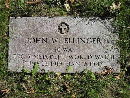 ELLINGER, JOHN W - Bremer County, Iowa | JOHN W ELLINGER