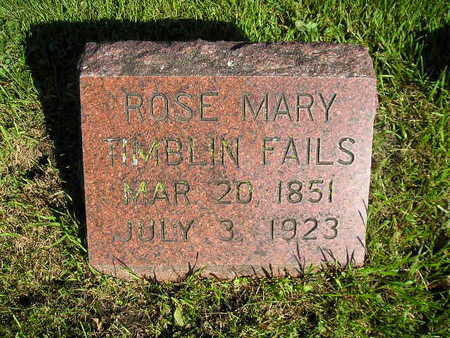 FAILS, ROSE MARY - Bremer County, Iowa | ROSE MARY FAILS