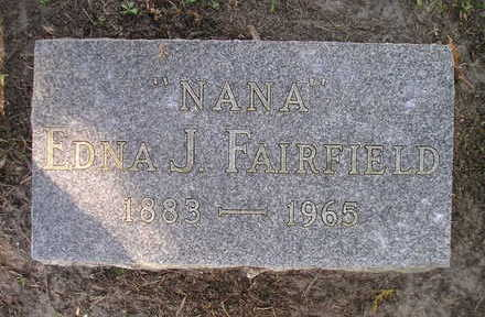 FAIRFIELD, EDNA J - Bremer County, Iowa | EDNA J FAIRFIELD